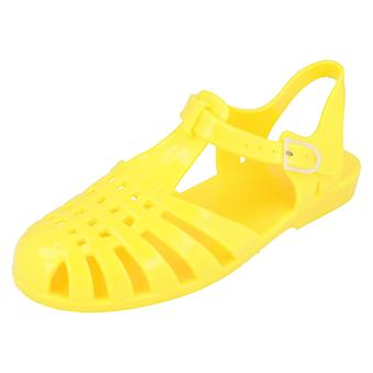 Ladies Spot On Buckled Jelly Sandals