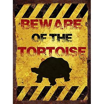 Ретро металлические стены знак - Остерегайтесь черепаха