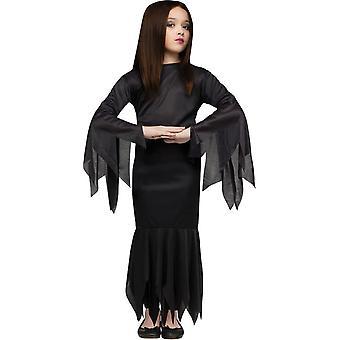 Morticia Addams Family barn kostume