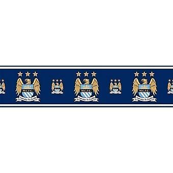 Officiel Manchester City Football fond frontière MCFC Soccer Blues Etihad 5m