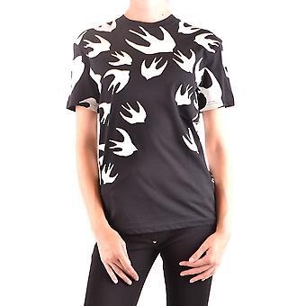 Mcq Door Alexander Mcqueen Ezbc053042 Women's Black Cotton T-shirt
