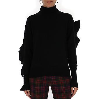 Laneus Mgd1431nero Women's Black Cotton Sweater