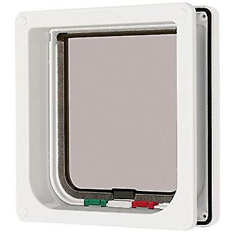 Cat Mate 4 Way Locking Cat Flap with Liner - White