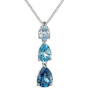 Mark Milton Topaz Drop hänge-blå/silver