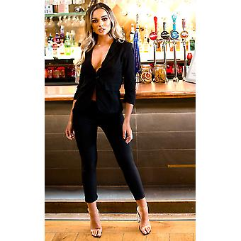 IKRUSH Womens Lisa Tailored Blazer And Cropped Trouser Co-ord