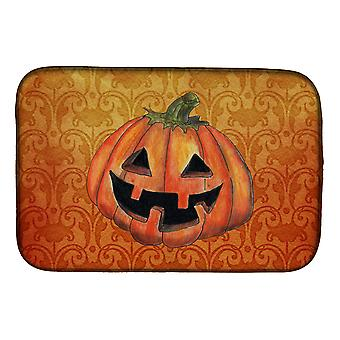 Carolines Treasures  SB3020DDM October Pumpkin Halloween Dish Drying Mat
