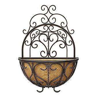 Universalmiddel 16Inch bronse rustikk Italia vegg planter dekorative