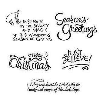 Spellbinders Christmas Sentiments Cling Stamp (SBS-165)
