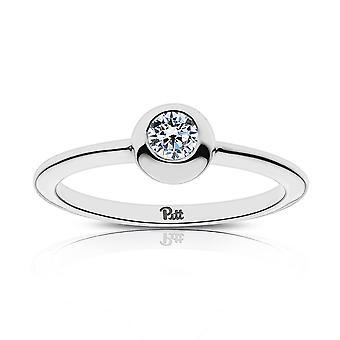 University of Pittsburgh Diamond Ring i sterling sølv design af BIXLER