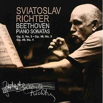S. Richter - Beethoven: Piano Sonatas Op. 2 No. 3, Op. 10 No. 3, Op. 49 No. 1 [CD] USA import