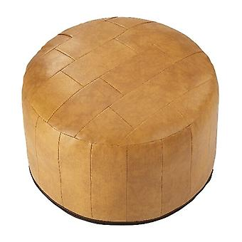 Seat cushion seat stool stool Ottoman faux leather patchwork light brown