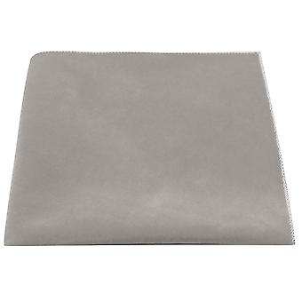 Luxury Silver Oyster Grey Velvet Pocket Square