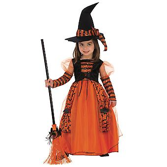 Sparkle Witch Wicked Magic Sorceress Story Book Week Child Girls Costume XS