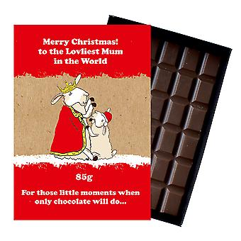 Funny Christmas Gift for Mum Mother Festive Chocolate Xmas Greeting Card for Mom Mummy XMS115