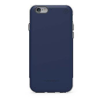 アップルのiPhone 6 /6sのためのピュアギアデュアルテックPROケース - ブルー/クリア