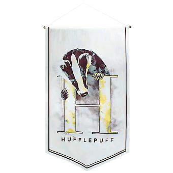 Harry Potter Hufflepuff Watercolour Satin Banner