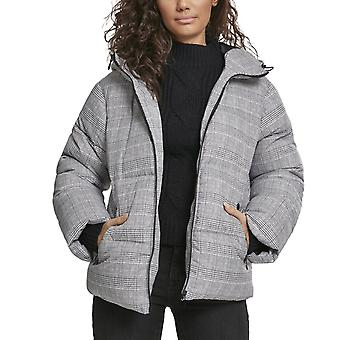 Urban Classics Ladies - Glencheck Buffer Hooded Winter Jacket