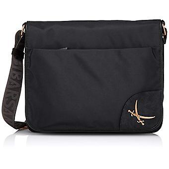 Sansibar B-845 PO Black Woman shoulder bag (Black (black 1)) 34x29x8 cm (B x H x T)