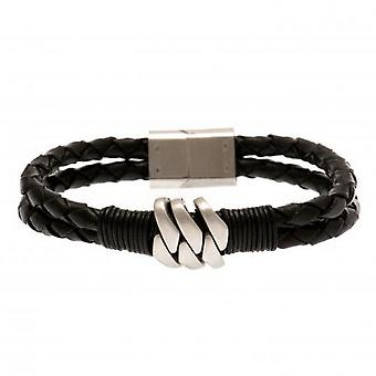 West Ham United FC Leather Bracelet
