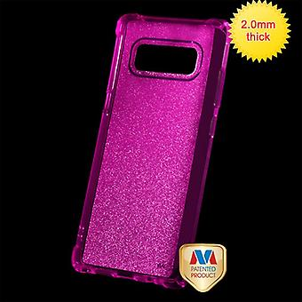 MYBAT Transparent Hot Pink Sheer Glitter Premium Candy Skin Cover  for Galaxy Note 8
