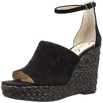 Jessica Simpson Womens Suella Fabric Peep Toe Casual Ankle Strap Sandals