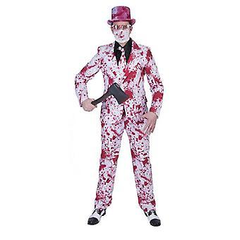 Killer Massacre Zombie Costume Hommes Costume Killer Psychopath Bloody Gentleman Costume Homme