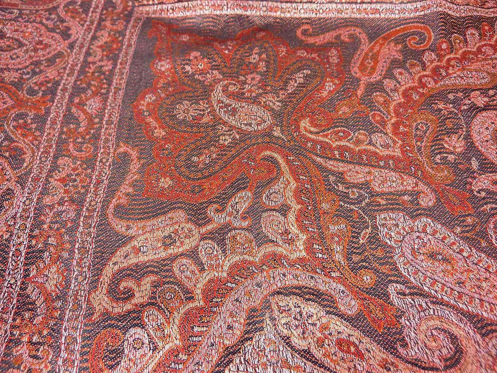 Mens Jamawar Premium Silk Scarf Pattern 6009 by Pashmina & Silk