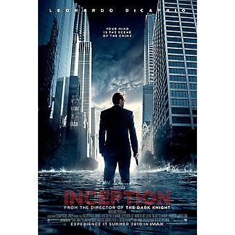 Inception Poster - (Leonardo Di Caprio, Christopher Nolan, Michael Caine) Double Sided Advance Us One Sheet (2010) Original Cinema Poster