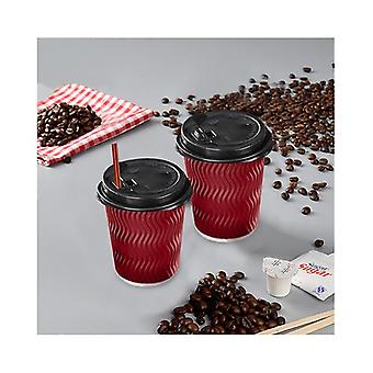 50 X 8Oz Red Disposable Coffee Cup Bulks
