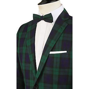 Dobell Mens Black Watch Tartan Suit Jacket Slim Fit Notch Lapel