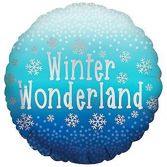 Anagram 18in Christmas Satin Luxe Winter Wonderland Round Foil Balloon