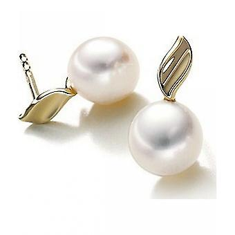 Luna-Pearls Pearl StudS Freshwater Pearls 7-7.5 mm 585 Yellow Gold 1023019