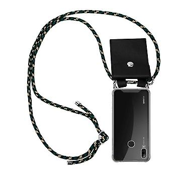 Cadorabo Phone Chain Case for Huawei P SMART 2019 Case Cover - Silicone Necklace Shoulder Sheath with Silver Rings - Cord Ribbon Cord and Removable Case Protective Case
