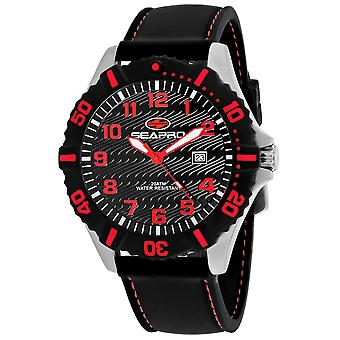 Seapro Men-apos;s Trooper Black Dial Watch - SP1514