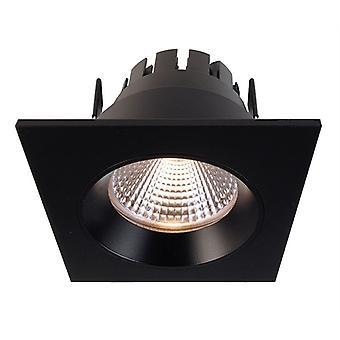 LED infällda tak lampa Orionis Square svart matt D 78mm 6,5 watt 2700 K IP20