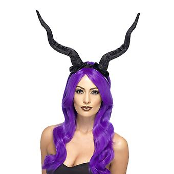 Demon hoorns Dark Angel Maleficent zendspoel fancy dress kostuum accessoire