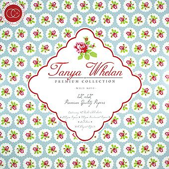 "Craft Consortium Double-Sided Paper Pad 12""X12"" 40/Pkg-Tanya Whelan Wild Rose"