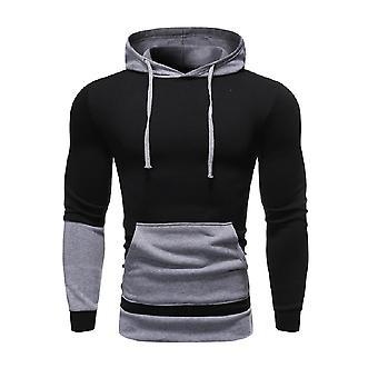Allthemen Men's ColorBlocked Casual Hoodie Sweatshirt