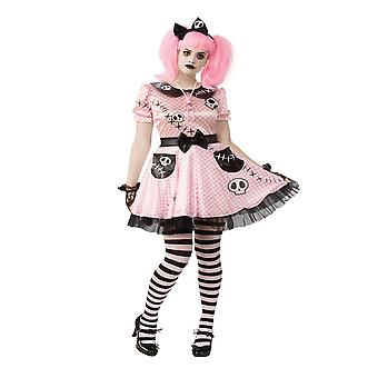 Bristol Novelty Womens/Ladies Pink Skelly Costume