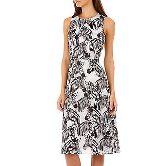 Sugarhill Boutique zwart wit Liza Zebra partij Midi jurk