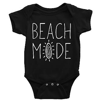 365 Printing Beach Mode Baby Bodysuit Gift Black Funny Baby Jumpsuit Baby Shower