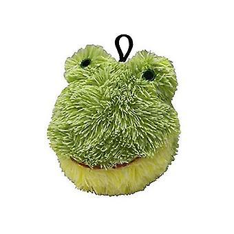 """Petlou Plush 4"""" EZ Squeaky Froggy Ball Dog Toy"""