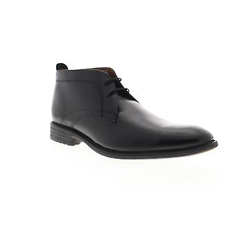 Bostonian Garvan Mid  Mens Black Leather Lace Up Chukkas Boots