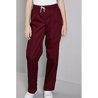SIMON JERSEY Unisex Smart Scrub Trousers, Burgundy