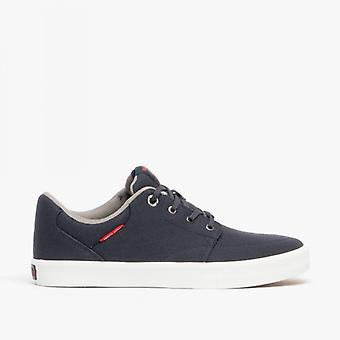Jack & Jones Barton Canvas Mens Casual Trainers Navy Blazer