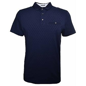 Ted Baker Men's Navy Blue Polo Shirt