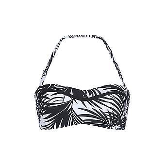 LingaDore 5101BB-239 Women's Eivi Black Palm Print Bandeau Bikini Top