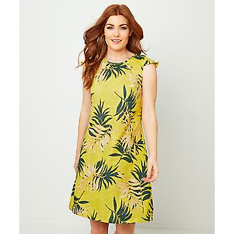 Joe Browns Womens Sommar Palm Leaf Print Cap Ärm Tunika