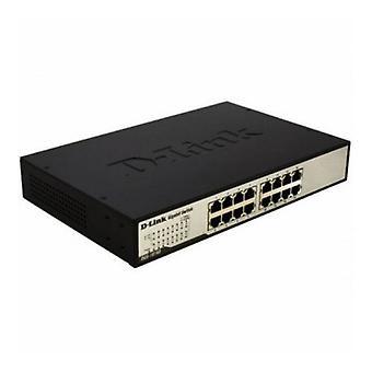 מתג D-Link DGS-1016D 16 עמ' 10 / 100 / 1000 Mbps