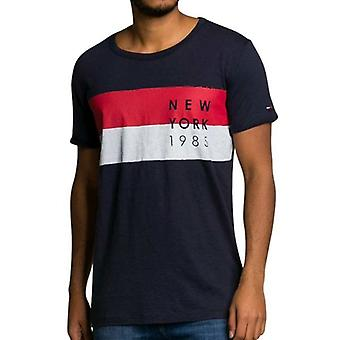 Tommy Hilfiger Denim T-Shirt Flag PKT Dark Indigo Blue
